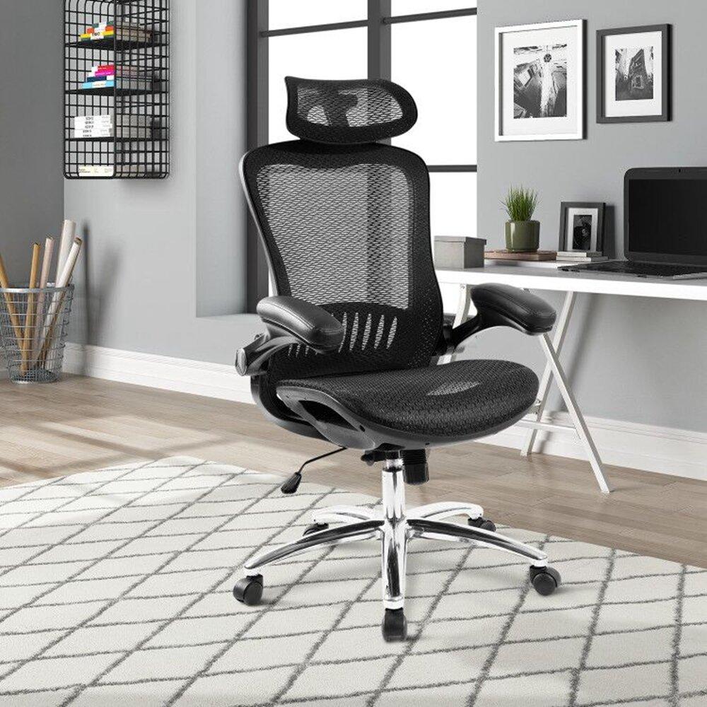 Inbox Zero Office Chair Ergonomic Mesh Adjustable Home Desk Office Chair Modern Design Reclining Chair Wayfair