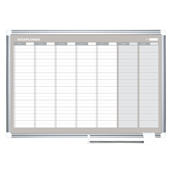 Weekly Magnetic Wall Mounted Calendar Board by Mastervision
