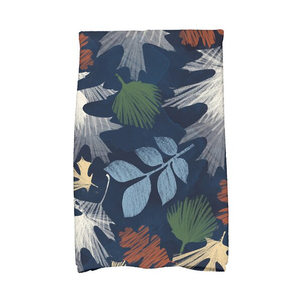 Brookfield Watercolor Leaves Floral Print Hand Towel by Loon Peak