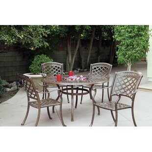 Thompson 5 Piece Dining Set with Cushions By Alcott Hill