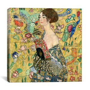 'Lady with a Fan' by Gustav Klimt Graphic Art Print by East Urban Home