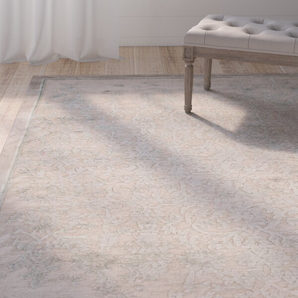 Calixta Cream/Ivory Abstract Area Rug by Ophelia & Co.