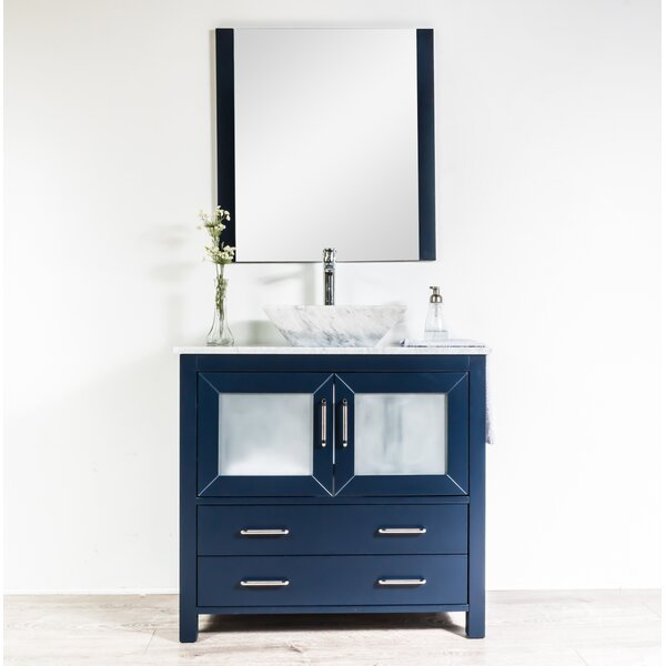 Leena 35 Single Bathroom Vanity Set with Mirror by Wrought Studio