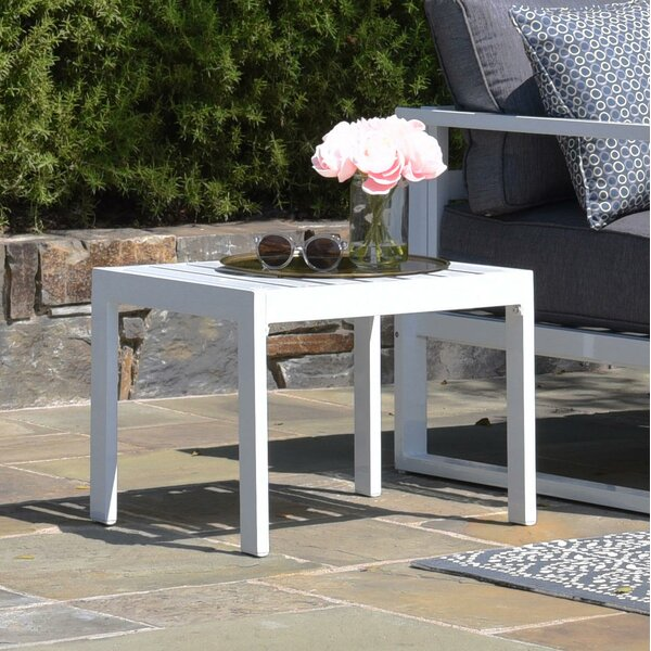 Paloma Aluminum Side Table by Elle Decor