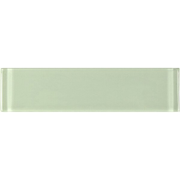 Metro 3 x 12 Glass Subway Tile in Jade by Abolos