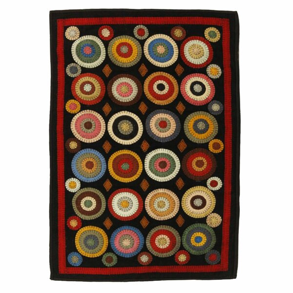 Penny Coin Black Area Rug by Homespice Decor