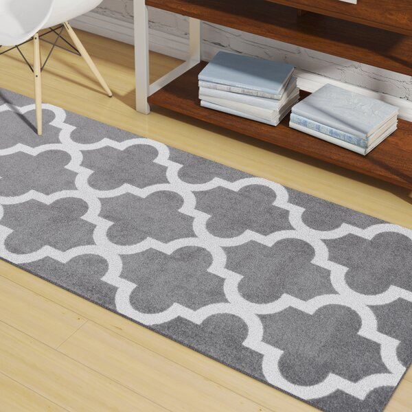 Sherrer Gray Area Rug by Wrought Studio