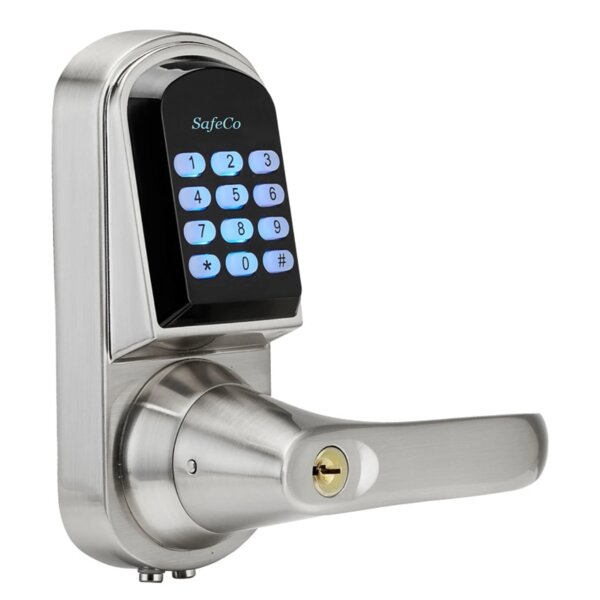 Electronic Entry One Piece Leverset with Remote by SafeCo