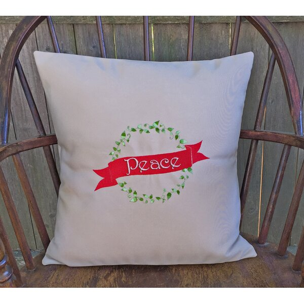 Holiday Peace Indoor/Outdoor Sunbrella Throw Pillow by Nantucket Bound