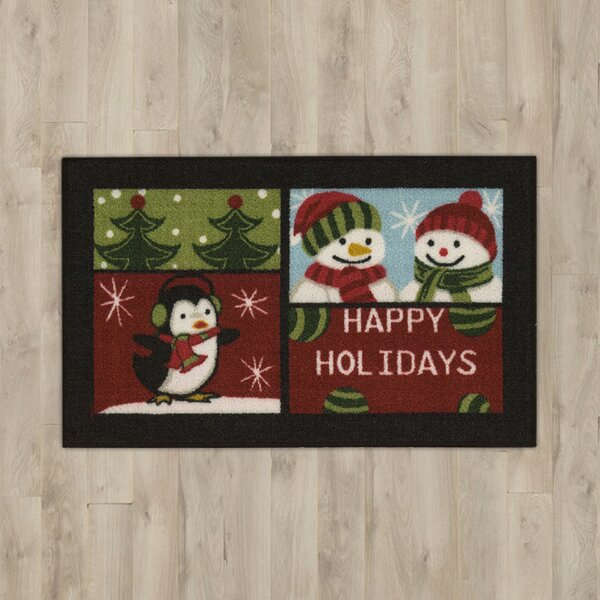 Penguin Black Area Rug by The Holiday Aisle