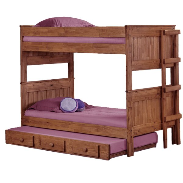 Erickson Stackable Twin Over Twin Bunk Bed With Trundle By Harriet Bee by Harriet Bee No Copoun