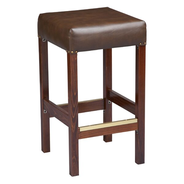 Amoroso Beechwood Square Backless Fully Upholstered Seat 30 Bar Stool by Red Barrel Studio