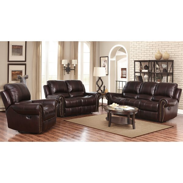 Barnsdale Reclining Leather Configurable Living Room Set by Darby Home Co Darby Home Co