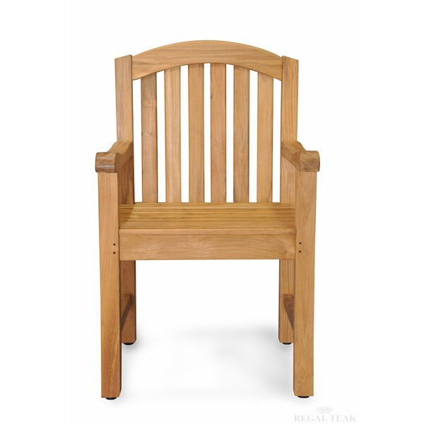 Jayden Teak Patio Dining Chair by Gracie Oaks