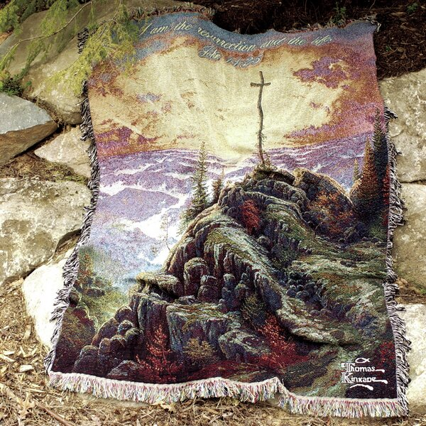 Sunrise Verse Tapestry Cotton Throw by Manual Woodworkers & Weavers