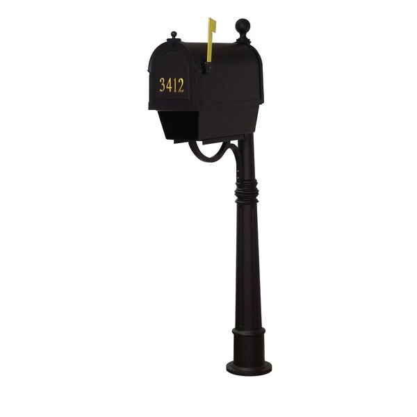 Berkshire Curbside Locking Mailbox with Ashland Post Included by Special Lite Products