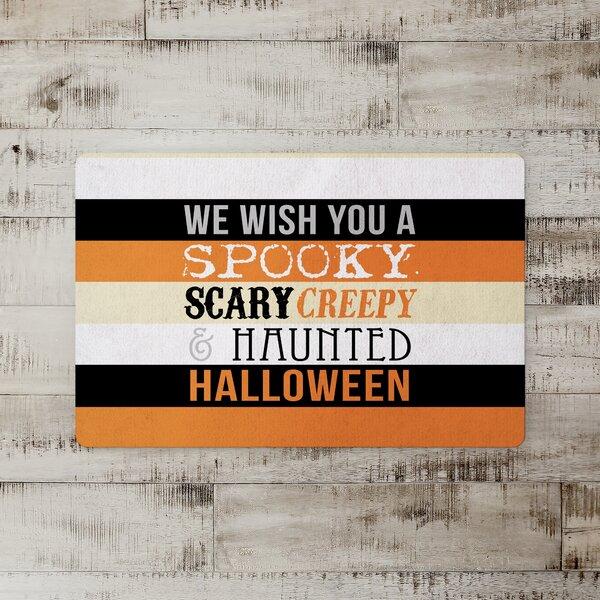 Wharton Halloween Words Kitchen Mat