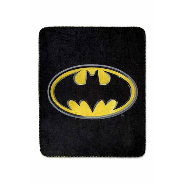 Batman Emblem Luxury Fleece Throw Blanket by Crover