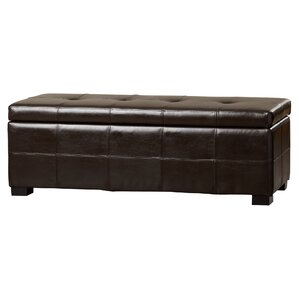 catherine faux leather storage bench - Leather Storage Bench