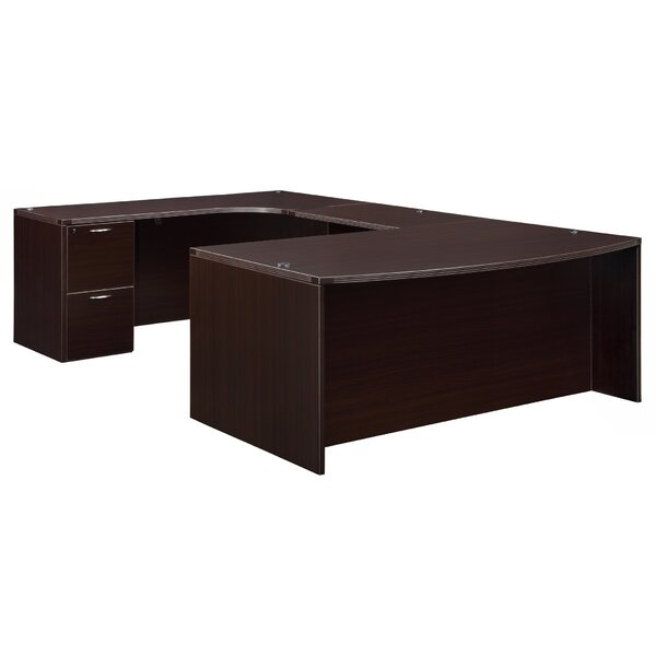 Fairplex Corner Credenza U-Shape Executive Desk by Flexsteel Contract