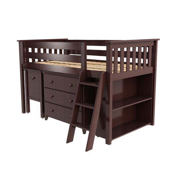 Bolte Twin Low Loft Bed with Drawers by Harriet Bee