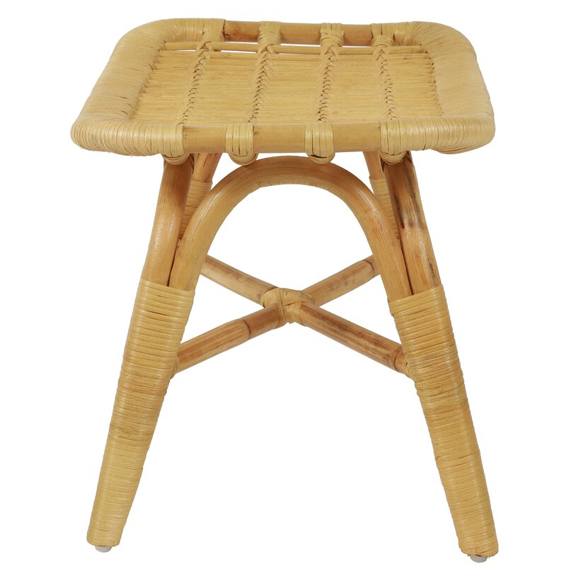 Yerby Rattan Accent Stool Reviews Allmodern