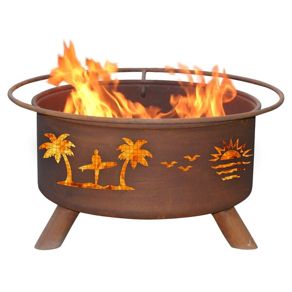 Classic Pacific Coast Steel Wood Burning Fire Pit by Patina Products