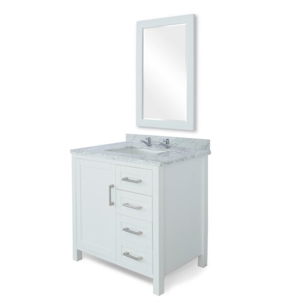 Hodgeman 36 Single Bathroom Vanity Set with Mirror by Latitude Run