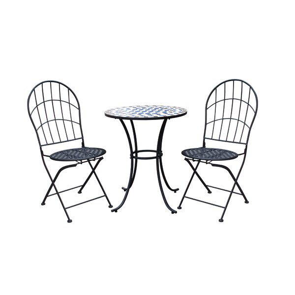 Racquel Patio 3 Piece Bistro Set by Ophelia & Co.