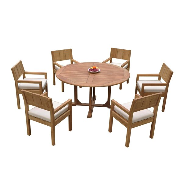 Orrie 7 Piece Teak Dining Set by Rosecliff Heights