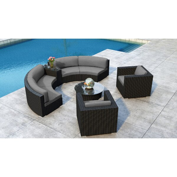 Glendale 6 Piece Sectional Set with Sunbrella Cushion by Everly Quinn