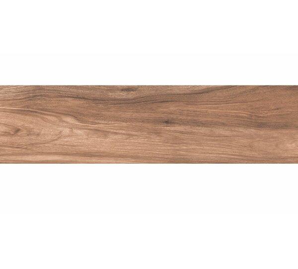 Deck 8 x 48 Porcelain Wood Look/Field Tile in Matte Brown by Tesoro
