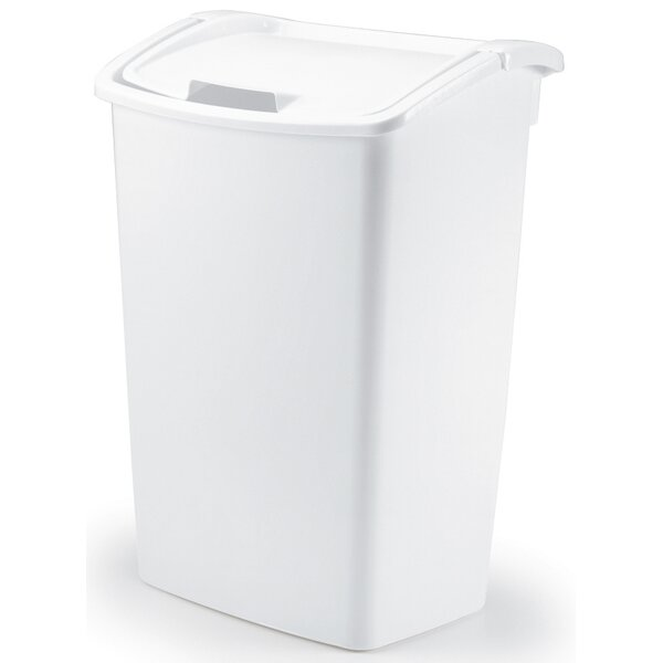 Dual Action 11.25 Gallon Swing Top Trash Can (Set of 6) by Rubbermaid