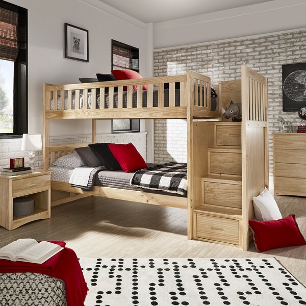 Spillane Twin Over Twin Bunk Bed With Drawers By Viv + Rae by Viv + Rae Today Only Sale