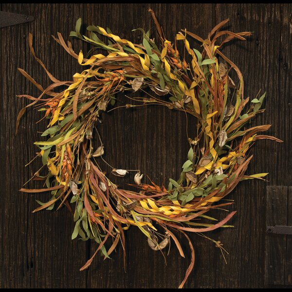 20 Wheat and Grass Wreath by Gracie Oaks