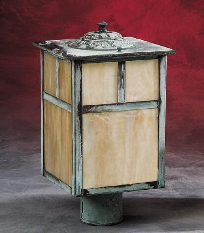 Romero Craftsman Style Iridescent Glass 1-Light Lantern Head by Loon Peak