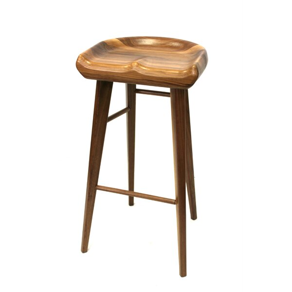 Wayne 30 Wood Bar Stool by Corrigan Studio