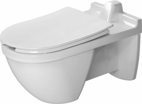 Starck 3 1.28 GPF (Water Efficient) Elongated Wall Mounted Toilet (Seat Not Included) by Duravit