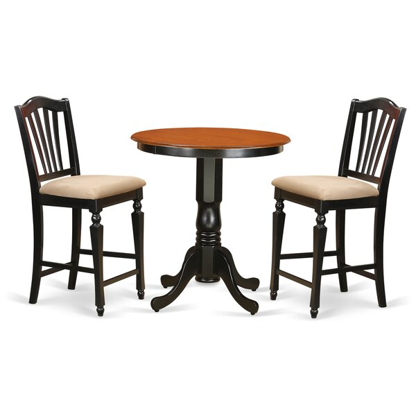 Eden 3 Piece Counter Height Pub Table Set By East West Furniture No Copoun