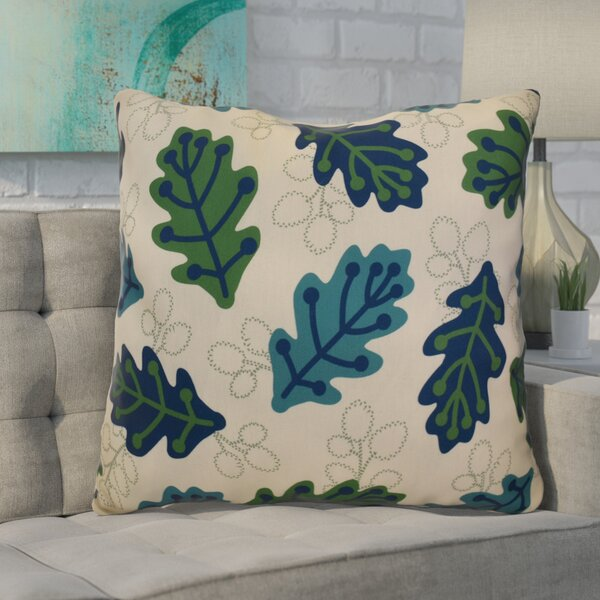 Avalos Retro Leaves Floral Euro Pillow by Ivy Bronx