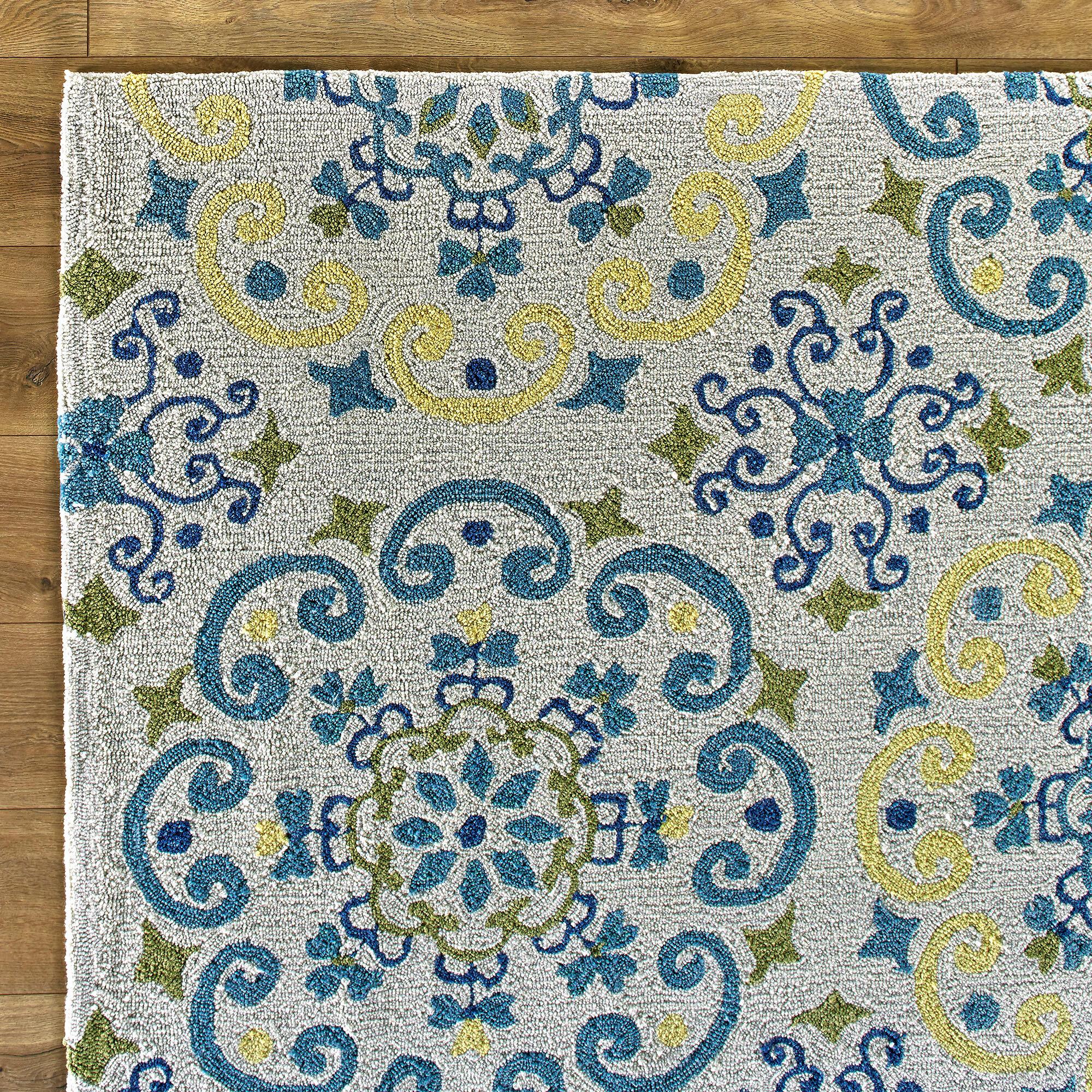 Birch Lane Kids™ Francesca Moroccan Ivory & Light Blue Area Rug ...