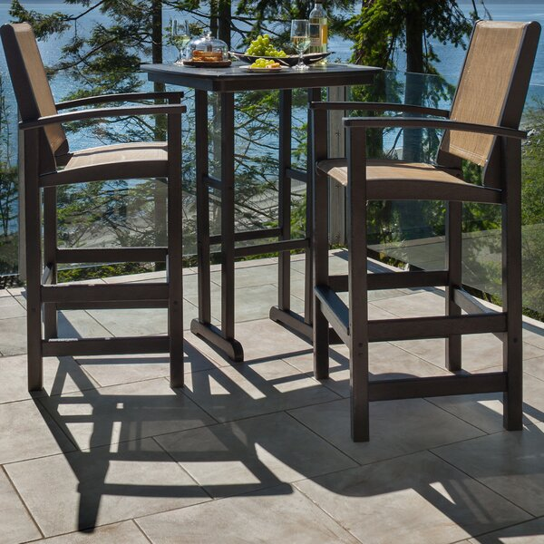Coastal 3-Piece Bar Set by POLYWOOD®