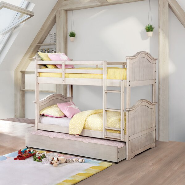 Thatcher Twin over Twin Bunk Bed with Trundle by Harriet Bee