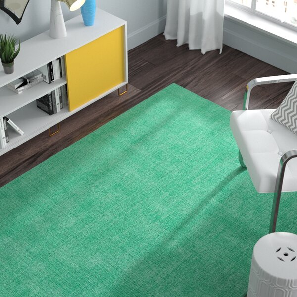 Borica Hand-Loomed Mint Indoor/Outdoor Area Rug by Ebern Designs