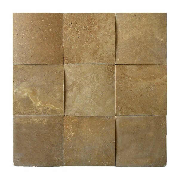 3D Honed 4 x 4 Natural Stone Mosaic Tile in Noce by QDI Surfaces