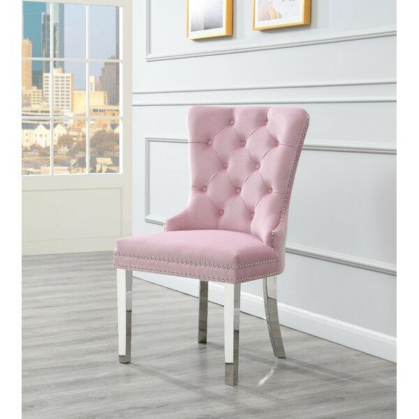 Elick Tufted Velvet Upholstered Side Chair (Set of 2) by Rosdorf Park Rosdorf Park