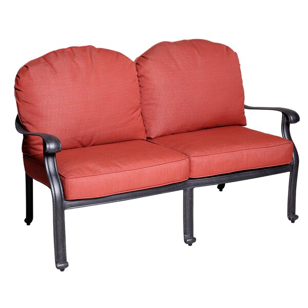 Thurston Deep Seating Loveseat with Cushion by Fleur De Lis Living