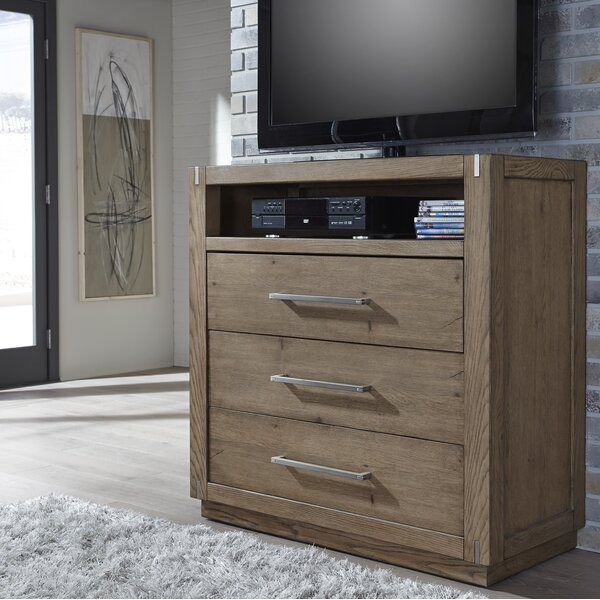 Dakota 3 Drawer Media Chest by Foundry Select