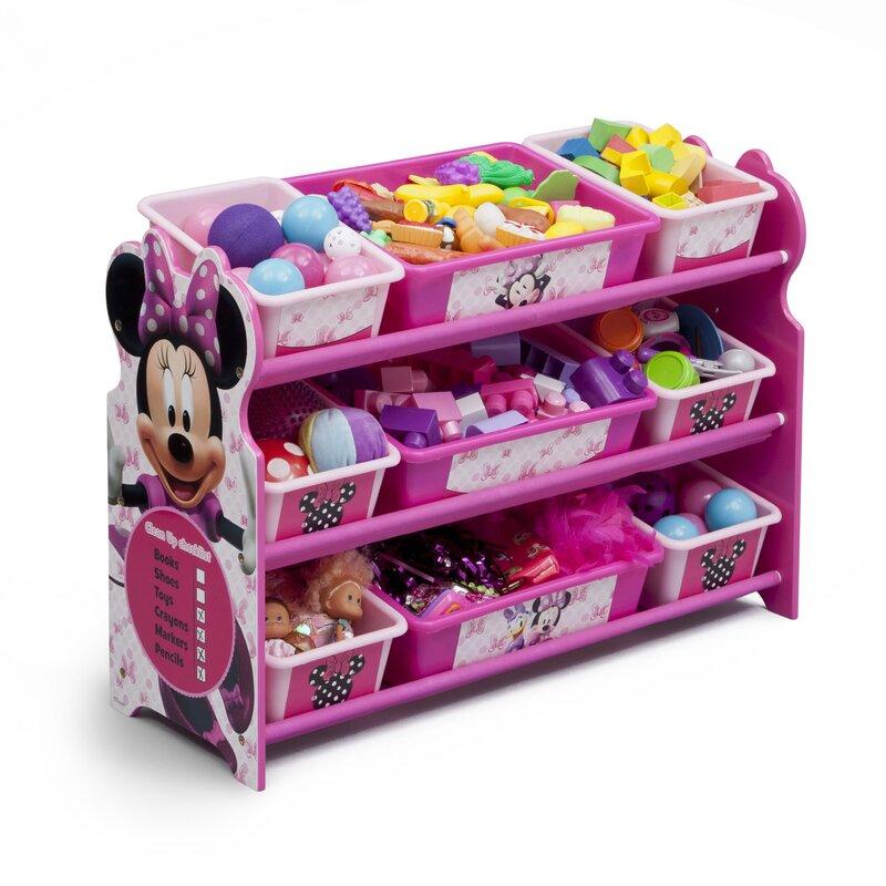 Minnie Mouse Bedroom 3 Drawer Storage Kids Wooden Box Pink: Delta Children Minnie Mouse 10 Piece Toy Organizer Set