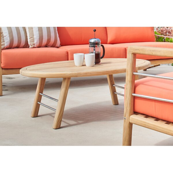 Armrong Teak Outdoor Coffee Table by Bayou Breeze
